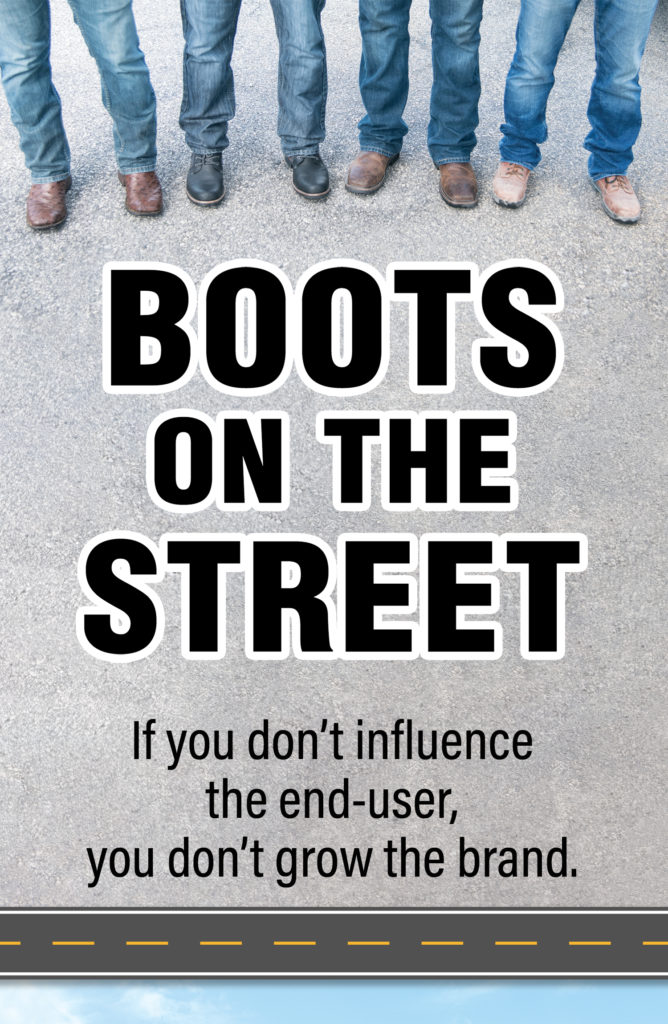 Boots on Street sign