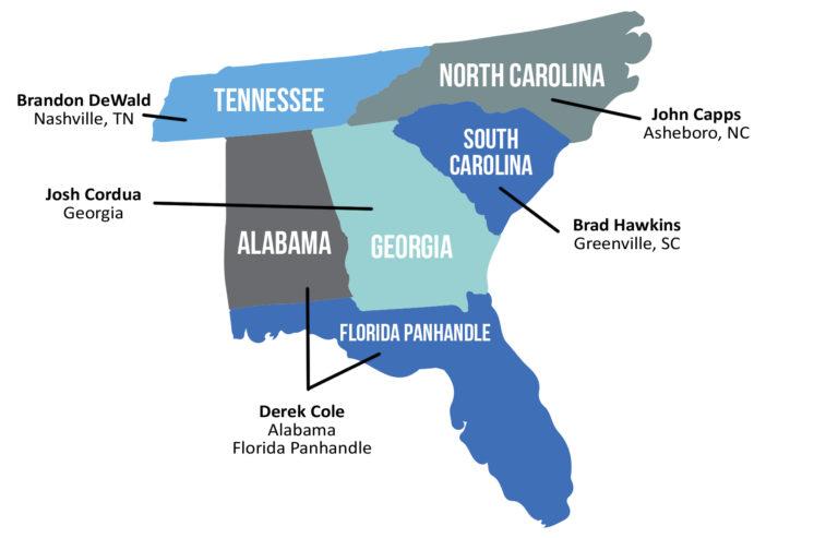 Morris Marketing Territory Map